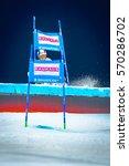 Small photo of STOCKHOLM, SWEDEN, JAN 31, 2017: Linus Strasser (GER) FIS Parallel slalom city event in Hammarbybacken, Stockholm. Winner