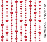 seamless pattern with hanging... | Shutterstock . vector #570291442