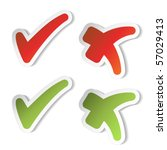 vector check mark stickers | Shutterstock .eps vector #57029413