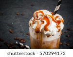 cold coffee drink frappe ... | Shutterstock . vector #570294172