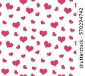 pink hearts valentine's day...   Shutterstock .eps vector #570294742