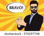 hipster beard businessman...   Shutterstock .eps vector #570297748