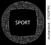 sport. word collage on black... | Shutterstock .eps vector #57029791