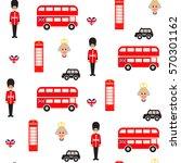 england symbols vector seamless ... | Shutterstock .eps vector #570301162