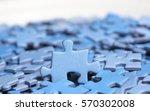 Blue Puzzle Pieces. One Piece...
