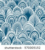 seamless abstract wave pattern. ... | Shutterstock .eps vector #570305152