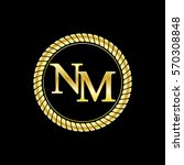 initials n and m logo luxurious ... | Shutterstock .eps vector #570308848