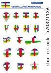 central african republic flag... | Shutterstock .eps vector #570321136