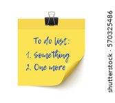 yellow sticker paper post it... | Shutterstock .eps vector #570325486