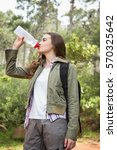 woman drinking water with... | Shutterstock . vector #570325642