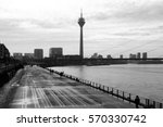 duesseldorf skyline with... | Shutterstock . vector #570330742