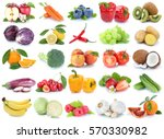 fruits and vegetables... | Shutterstock . vector #570330982