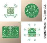 vector set of nature logos... | Shutterstock .eps vector #570331966