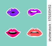 cosmetics and makeup seamless... | Shutterstock .eps vector #570335452