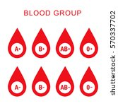 blood group type icon flat web... | Shutterstock .eps vector #570337702