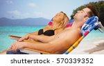 white millennial couple... | Shutterstock . vector #570339352
