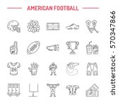 vector line icons of american... | Shutterstock .eps vector #570347866