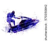 vector illustration of a rider... | Shutterstock .eps vector #570350842