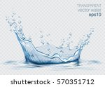 transparent vector water splash ... | Shutterstock .eps vector #570351712