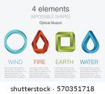 nature infographic elements on... | Shutterstock .eps vector #570351718