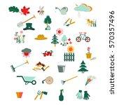 gardening icon set  garden and...   Shutterstock .eps vector #570357496