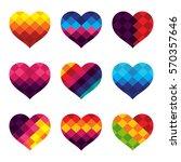 heart vector design with... | Shutterstock .eps vector #570357646