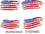 grunge stripes  and stars | Shutterstock .eps vector #57035881