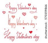 valentines day lettering ... | Shutterstock .eps vector #570359866