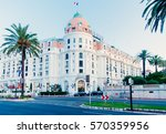 Small photo of NICE - JULY 14: after a long time of closing the door for renovation the worldwide known hotel negresco in the promenade des anglais reopen to the public, Nice 14 july 2009