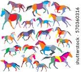 big set of patchwork vector... | Shutterstock .eps vector #570360316