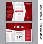 design folding brochure with... | Shutterstock .eps vector #570360925