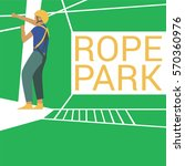 rope park vector illustration   Shutterstock .eps vector #570360976