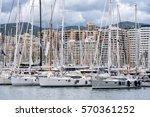sailing yachts | Shutterstock . vector #570361252