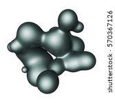 abstract 3d render illustration ... | Shutterstock . vector #570367126