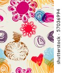floral seamless pattern in... | Shutterstock .eps vector #57036994