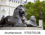 London Trafalgar Square Lion In ...