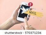 mail postal communication... | Shutterstock . vector #570371236