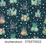 vector seamless pattern with... | Shutterstock .eps vector #570375022
