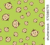 joyful kids seamless pattern... | Shutterstock .eps vector #570380755
