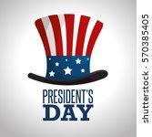 happy presidents day poster   Shutterstock .eps vector #570385405