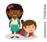 cute little kids character | Shutterstock .eps vector #570387646