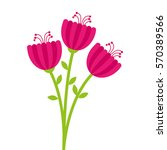 floral cute frame decorative | Shutterstock .eps vector #570389566