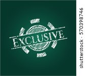 exclusive chalkboard emblem on... | Shutterstock .eps vector #570398746