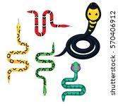 snake cartoon vector set... | Shutterstock .eps vector #570406912