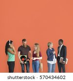 different lifestyle people... | Shutterstock . vector #570434602