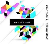 memphis geometric background... | Shutterstock .eps vector #570438955