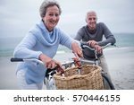 portrait of senior couple... | Shutterstock . vector #570446155