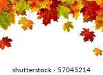 Autumn Card Of Colored Falling...