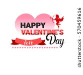 valentine day gift card holiday ... | Shutterstock .eps vector #570459616