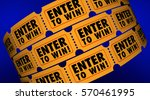 enter to win contest raffle... | Shutterstock . vector #570461995